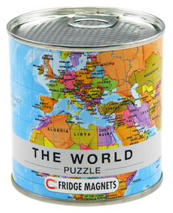 100 Piece Magnetic Puzzle World